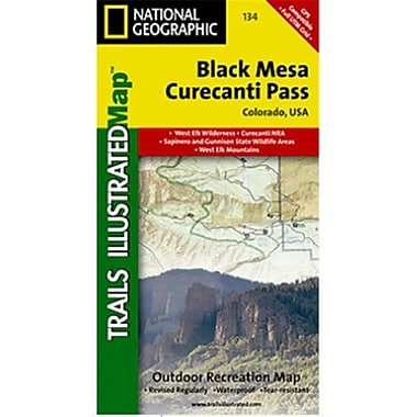 National Geographic Map Of Black Mesa-Curecanti Pass - Colorado(NGS200)