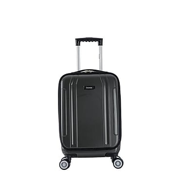 InUSA 19 in. Southworld Lightweight Hardside Spinner Carry-On Luggage, Dark Gray Carbon(RTA185)