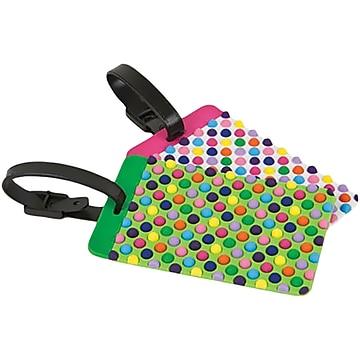 Travelon PVC Set of 2 Luggage Tags, Multicolor, 6  (12657-000)
