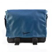 Vespa Messenger Shoulder Vinyl Bag - Blue - 12.2 x 3.9 x 14.2 in.(FRME176)
