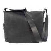 Piel Messenger Bag with Double Magnetic Opening - Black(PIEL165)