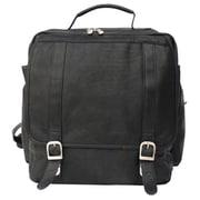 Piel Black Vertical Backpack(PIEL205)