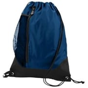 Augusta 1149A Tres Drawstring Backpack, Navy, Black - One Size(HRTW42065)