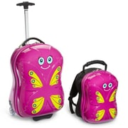 Trendykid Travel Buddiez Bella Butterfl 18 Case Plus 13 Backpack(TRNK011)