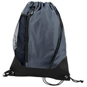 Augusta 1149A Tres Drawstring Backpack, Graphite, Black - One Size(HRTW42062)