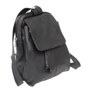 Piel Black Small Drawstring Backpack(PIEL750)
