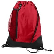 Augusta 1149A Tres Drawstring Backpack, Red, Black - One Size(HRTW42066)