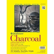 Strathmore 300 Series 11'' x 17'' White Glue Bound Charcoal Pad(ALV21509)
