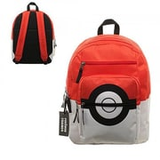 Bioworld Pokemon Pokeball Backpack with Trainer Bag Charm(INNX267)