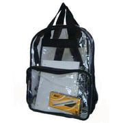 Bulk Buys See-through clear PVC backpack 17x13x5 in. Black. - Case of 40(DLRDY231663)