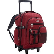 Everest Deluxe Wheeled Backpack - Burgundy(EVRT777)