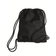 Liberty Bags 2256-Black-ONE Microfiber Drawstring Backpack, Black - One Size(HRTW105582)