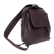Piel Chocolate Small Drawstring Backpack(PIEL751)