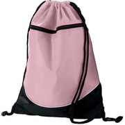 Augusta 1920A Tri-Color Drawstring Backpack, Light Pink & Black - All(HRTW19148)