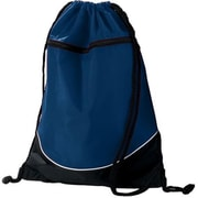 Augusta 1920A Tri-Color Drawstring Backpack, Navy & Black - All(HRTW19147)