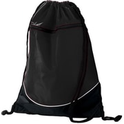 Augusta 1920A Tri-Color Drawstring Backpack, Black & Black - All(HRTW19152)