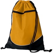 Augusta 1920A Tri-Color Drawstring Backpack, Gold & Black - All(HRTW19146)