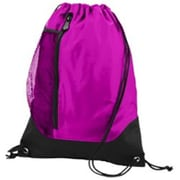 Augusta 1149A Tres Drawstring Backpack, Power Pink, Black - One Size(HRTW42068)