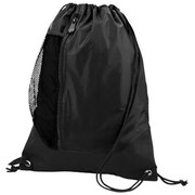 Augusta 1149A Tres Drawstring Backpack, Black, Black - One Size(HRTW42067)