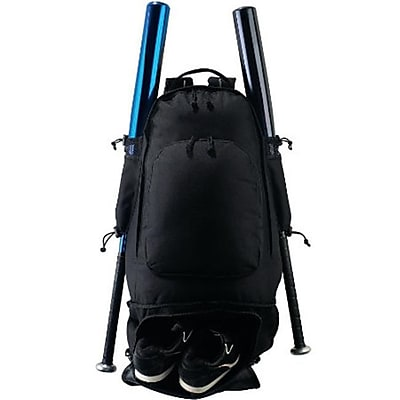 Augusta 411A Expandable Bat Backpack, Black -