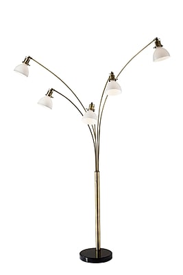 Adesso Spencer Antique Brass Arc Lamp 84