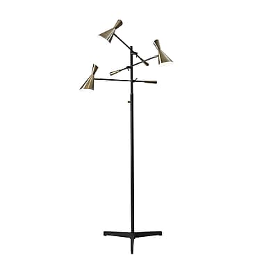 Adesso Zelda LED 3-Arm Floor Lamp Black 71