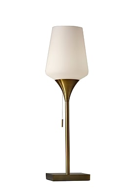 Adesso Roxy Table Lamp, Antique Brass (4265-21)