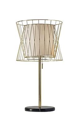Adesso Verona Table Lamp, Shiny Gold (6018-04)