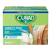 Curad Variety Pack Assorted Adhesive Bandages, 200/Pack (CUR0800RB)