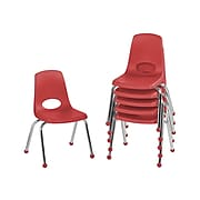 Factory Direct Partners Plastic School Chair, Red (10363-RD)