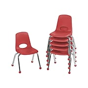 Factory Direct Partners Plastic School Chair, Red (10359-RD)