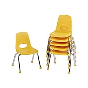 Factory Direct Partners Plastic School Chair, Yellow (10359-YE)