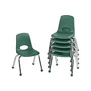 Factory Direct Partners Plastic School Chair, Green (10359-GN)