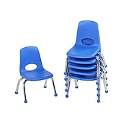 Factory Direct Partners Plastic School Chair, Blue (10355-BL)