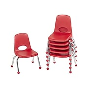 Factory Direct Partners Plastic School Chair, Red (10355-RD)