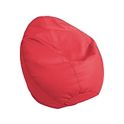 SoftScape Dew Drop Faux Leather Bean Bag Chair, Red (10479-RD)