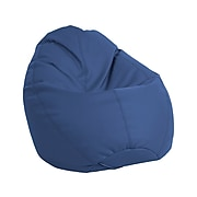 SoftScape Dew Drop Faux Leather Bean Bag Chair, Navy (10479-NV)