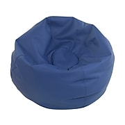 SoftScape Classic Faux Leather Bean Bag Chair, Navy (10478-NV)