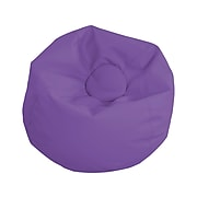 SoftScape Classic Faux Leather Bean Bag Chair, Purple (10478-PU)