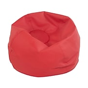 SoftScape Classic Faux Leather Bean Bag Chair, Red (10478-RD)