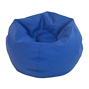 SoftScape Classic Faux Leather Bean Bag Chair, Blue (10478-BL)