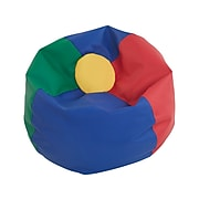 SoftScape Classic Faux Leather Bean Bag Chair, Multicolor (10478-AS)