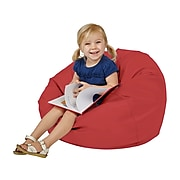 SoftScape Classic Junior Faux Leather Bean Bag Chair, Red (10477-RD)
