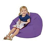 SoftScape Classic Junior Faux Leather Bean Bag Chair, Purple (10477-PU)