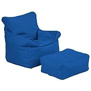 SoftScape Faux Leather Bean Bag Chair, Blue (10474-BL)