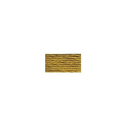 DMC Six Strand Embroidery Floss, Cotton, 8.7 Yards, Dark Old Gold (117-680)