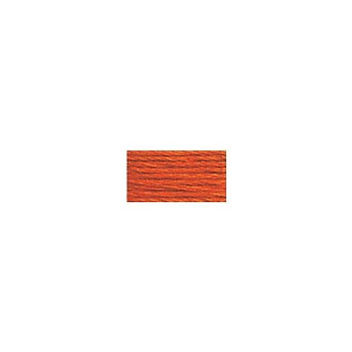 DMC Six Strand Embroidery Floss, Cotton, 8.7 Yards, Medium Burnt Orange (117-946)