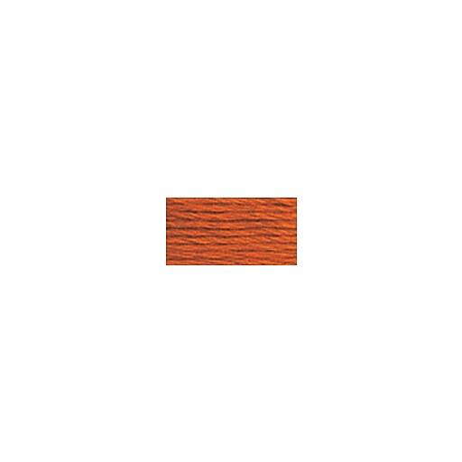 DMC Six Strand Embroidery Floss, Cotton, 8.7 Yards, Dark Orange Spice (117-720)