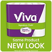 Viva Signature Cloth Choose-A-Sheet Paper Towel, Soft & Strong Kitchen Paper Towels, 1-Ply, White, 12 Big Rolls (49430)