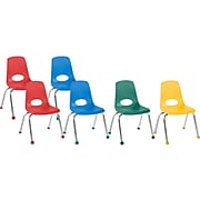 Factory Direct Partners Stack Plastic School Chair, Assorted Colors (10365-AS)